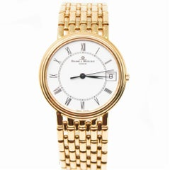 Baume & Mercier Gents Watch M0a01086 Yellow Gold Certified Pre-Owned