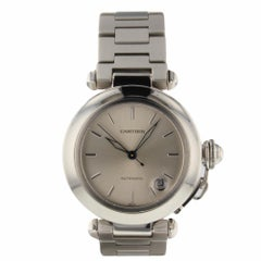 Cartier Pasha Date Steel Automatic Watch 1031Certified Pre-Owned