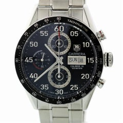 TAG Heuer Carrera CV2A10 with Band and Black Dial Certified Pre-Owned