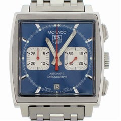 TAG Heuer Monaco CW2113 with Band and Black Dial Certified Pre-Owned