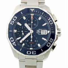 Tag Heuer Aquaracer CAY211B.BA0927 with Band and Blue Dial