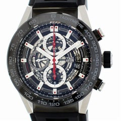 TAG Heuer Carrera CAR2A1Z.FT6044 with Band, Ceramic Bezel and Black Dial