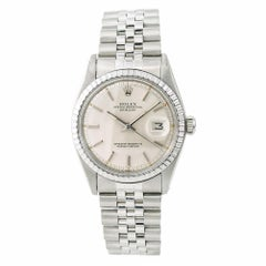 Rolex Datejust 1603 Men's Automatic Watch Silver Dial Stainless Steel