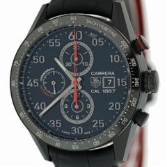 TAG Heuer Carrera CAR2A80.FC6237 with Band, Ceramic Bezel and Black Dial