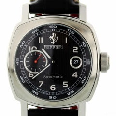 Panerai Ferrari Unknown with Band, Stainless-Steel Bezel and Black Dial
