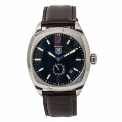TAG Heuer Monza WR2110 Men's Automatic Watch Black Dial Stainless Steel