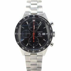 TAG Heuer Carrera CV2014.FT6014 with Stainless-Steel Bezel and Black Dial