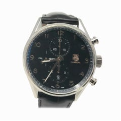 TAG Heuer Carrera CAR2014.BA0796 with Stainless-Steel Bezel and Black Dial