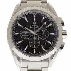 Omega New Aqua Terra 231.10.44.50.01.001 Chrono Black Steel Box/Paper/Warranty