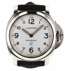 Panerai Luminor Base Logo Acciaio Steel White Watch pam00630 pam 630