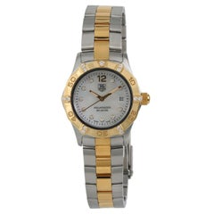 TAG Heuer Aquaracer WAF1451 Womens Quartz Watch Mother of Pearl Dial Two-Tone SS