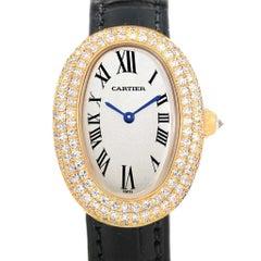 Cartier Baignoire 18 Karat Yellow Gold Diamond Ladies Watch 1954