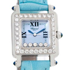 Chopard Happy Sport Blue Mother of Pearl Diamond Watch 27/8894-23/11