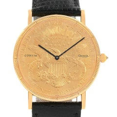 Corum 20 Dollars Double Eagle Yellow Gold Coin Year 1880 Watch