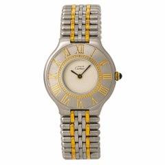 Cartier Must De 21 Women's Quartz Watch Cream Dial Two-Tone Stainless Steel