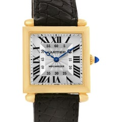 Cartier Tank Obus Yellow Gold Privee Paris CPCP Manual Watch W1527551