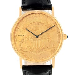 Corum 20 Dollars Double Eagle Yellow Gold Coin Year 1899 Watch
