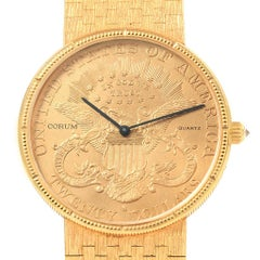 Corum 20 Dollars Double Eagle Yellow Gold Coin Year 1904 Men's Watch