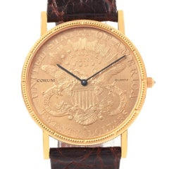 Corum 20 Dollars Double Eagle Yellow Gold Coin Year 1905 Men's Watch
