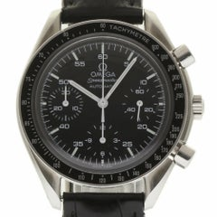 Omega 175.0032.1 Speedmaster Chronograph Steel Black Dial 2 Year Warranty #224-3