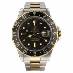 Rolex GMT Master Two Tone 40 mm Black   Automatic Automatic Watch 1675 Mint