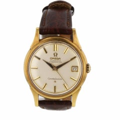 Vintage Omega Constellation 18K Yellow Gold Automatic 34 mm Men Watch Box Papers