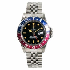 Rolex GMT Master 16750, Black Dial Certified Authentic