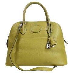 Hermes Vert Anis Clemence 27 cm Bolide Bag
