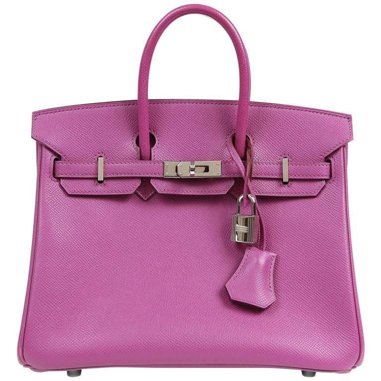 Hermes Anemone Purple Epsom 25 cm Birkin Bag