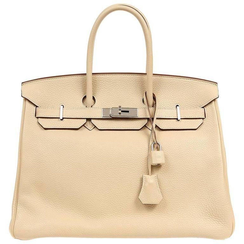 c08cf0410f0 Hermes Parchemin Togo 35 cm Birkin Bag For Sale at 1stdibs