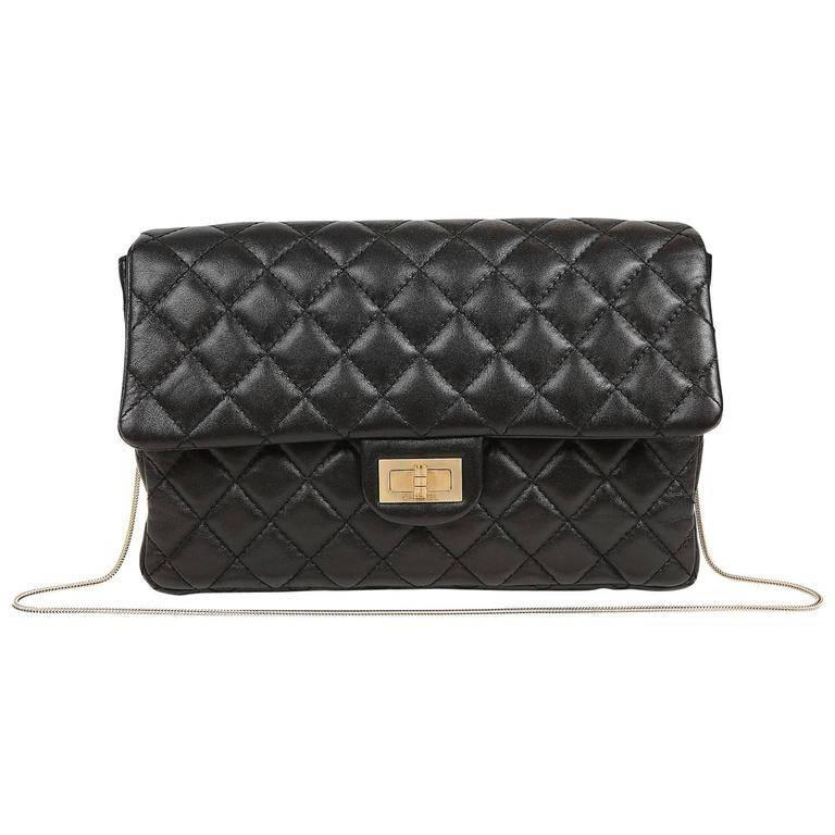 e0686b3e11bf Chanel Black Quilted Leather Mademoiselle Flap Bag For Sale at 1stdibs