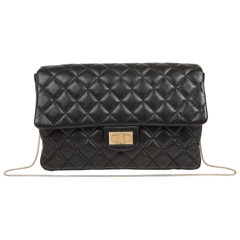 Chanel Black Quilted Leather Mademoiselle Flap Bag