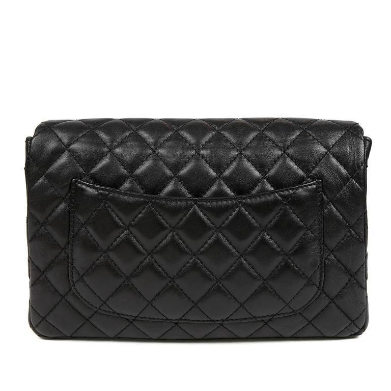 Chanel Black Quilted Leather Flap Bag- EXCELLENT PLUS Condition Elegant and timeless, this medium sized shoulder bag is a smart addition for any polished wardrobe. Black leather is quilted in signature Chanel diamond pattern. Matte gold mademoiselle