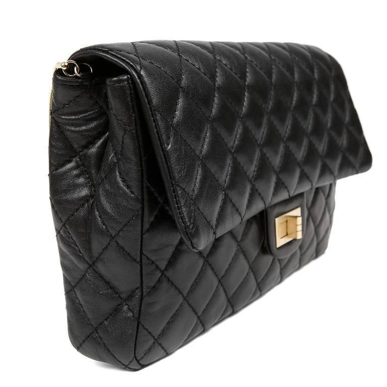 Chanel Black Quilted Leather Mademoiselle Flap Bag In Excellent Condition For Sale In Palm Beach, FL