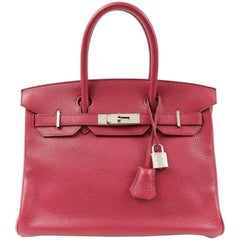 Hermes Ruby Red Togo Leather 30 cm Birkin Bag PHW