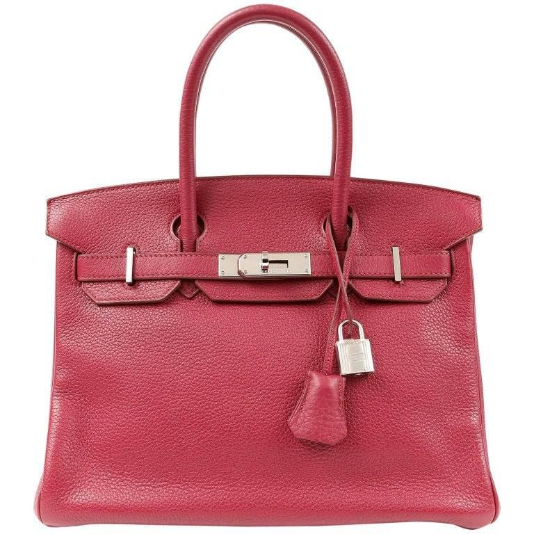 Hermes Ruby Red Togo Leather 30 cm Birkin Bag PHW