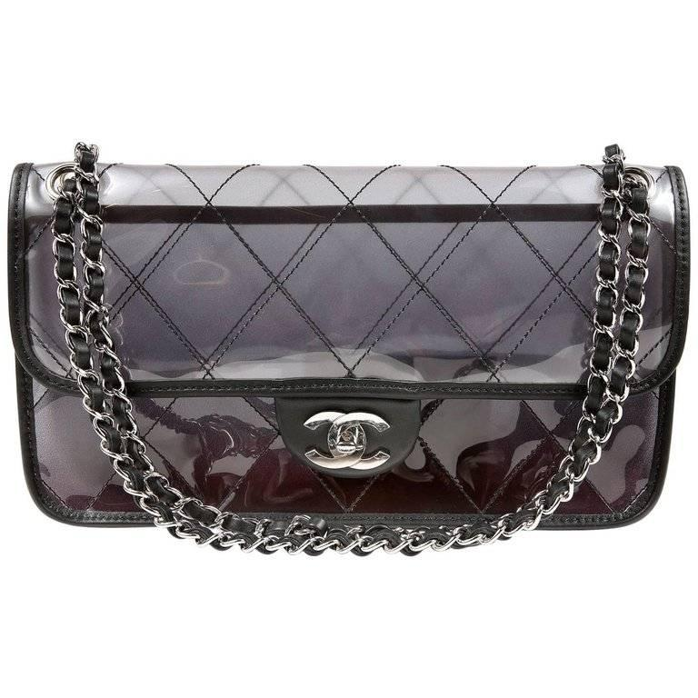 4c7f1538a692 Chanel PVC Naked Flap Bag For Sale at 1stdibs