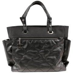 Chanel Black Canvas Biarritz XL Tote Bag