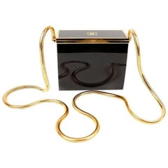 Chanel Black Resin Evening Bag with GHW
