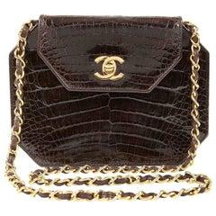 Chanel Espresso Crocodile Vintage Octagonal Bag