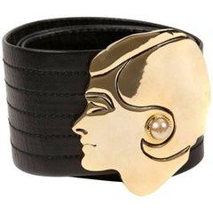 Chanel Gold Face Buckle Belt