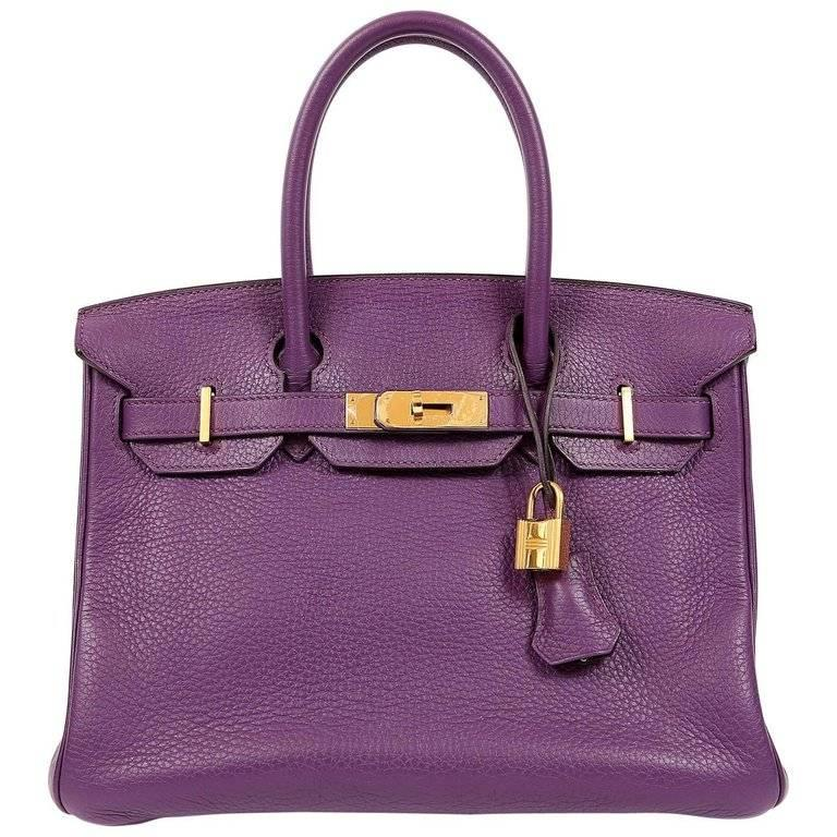 Hermes Ultra Violet Togo 30 cm Birkin Bag with GHW