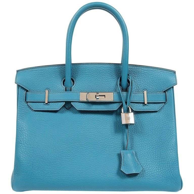 24411770b80d Hermes Turquoise Togo 30 cm Birkin with PHW For Sale at 1stdibs