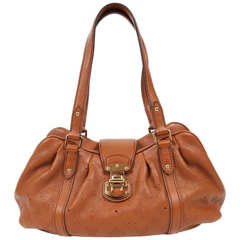 Louis Vuitton Cognac Mahina Lunar PM Bag