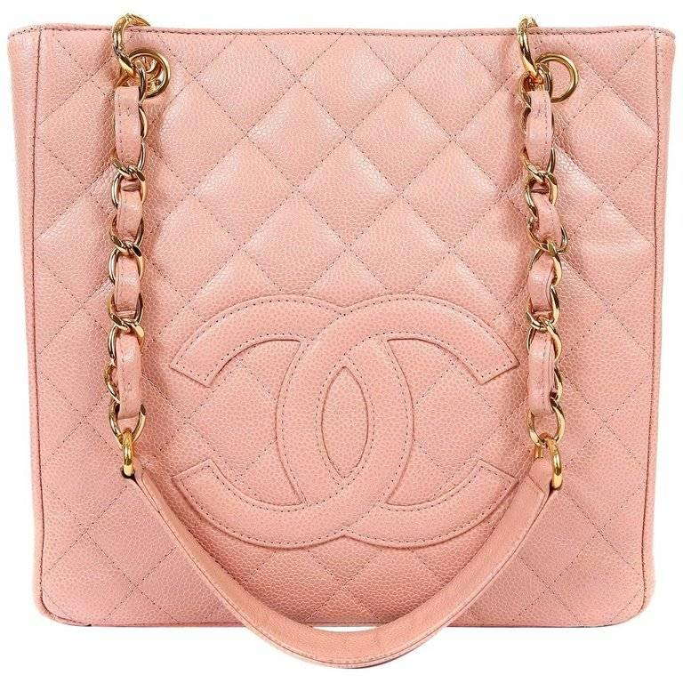 97e7ad1f256b Chanel Pink Caviar PST- Petite Shopping Tote at 1stdibs