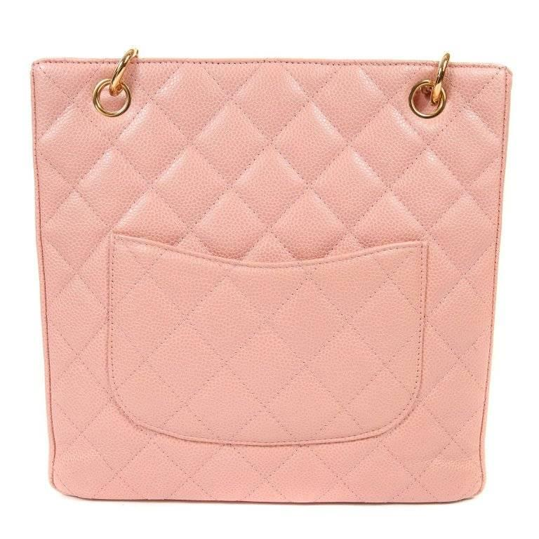 2fb9337b9f00 This authentic Chanel Pink Caviar Petite Shopping Tote (PST) is pristine. A  beautiful