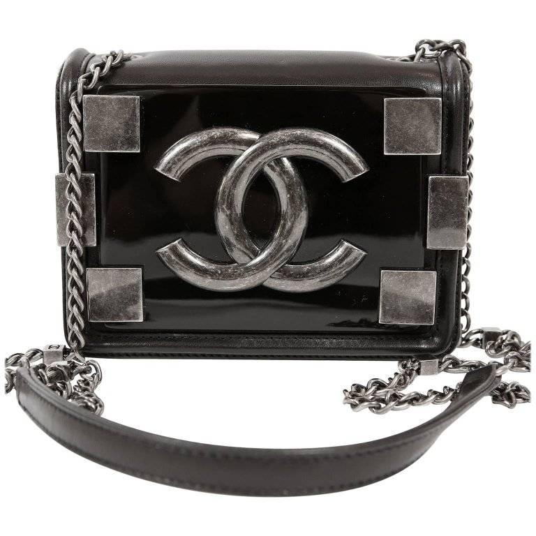 Chanel Boy Brick Cross Body Bag in Black