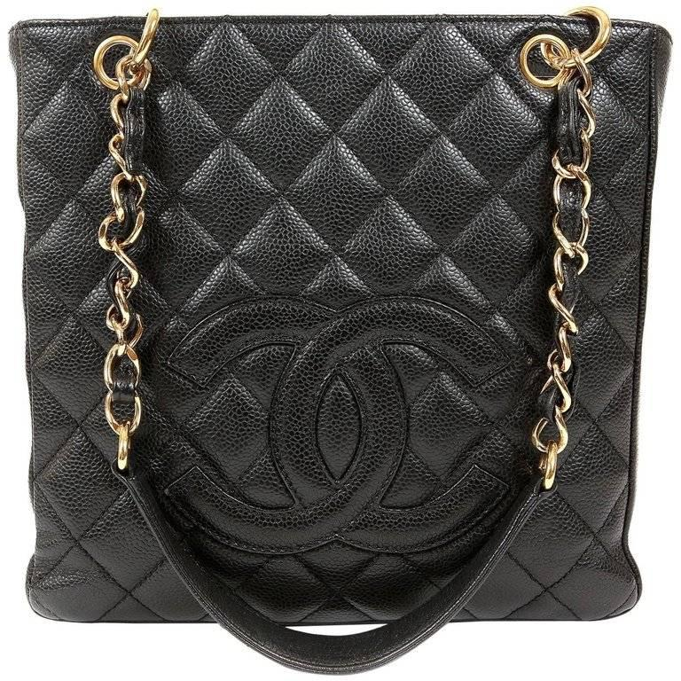 Chanel Black Caviar PST Petite Shopper