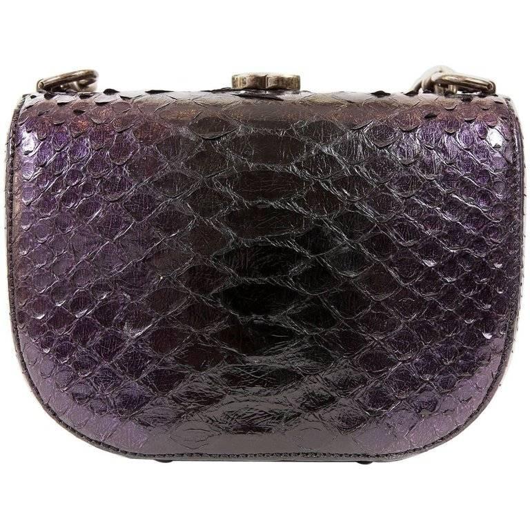 Chanel Purple Python Crossbody Bag