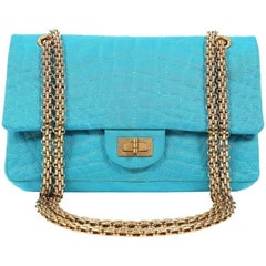 ec2ab982bb779d ... Chanel Turquoise Satin 2.55 Reissue Bag with Gold HW For Sale NaN ...